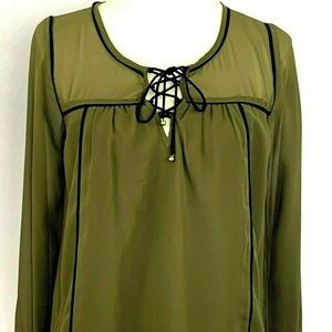 Abercrombie & Fitch Womens Sheer Blouse Size X Sma